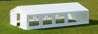 Standard Marquee 6m x 8m, 180g /m² Waterproof PE, Free Ground Bar