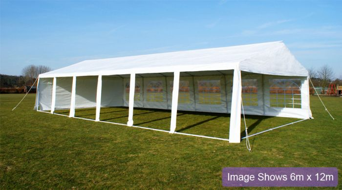 Luxury Marquee 3m x 8m, 380g /m² Waterproof PVC , 38mm Steel Frame