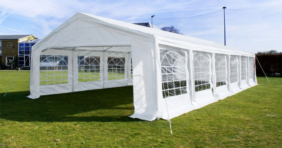 Standard Marquee 6m x 12m, 180g /m² Waterproof PE, Free Ground Bar