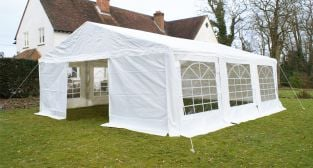 Luxury Marquee 6m x 6m, 380g /m² Waterproof PVC , 38mm Steel Frame