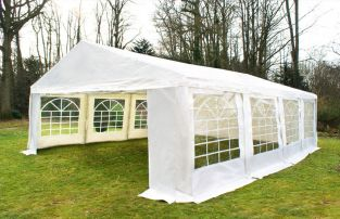 "6m x 8m (19ft 8"" x 26ft 3"") Luxury Marquee / Party Tent with FREE Ground Bar Kit"