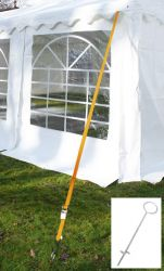 Tie down kit for tent of length 12m (ten straps, ten pegs)