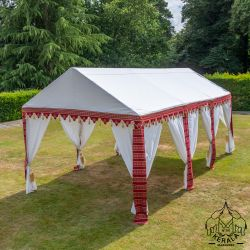 3x6m Luxury Indian-Style Waterproof Polycotton Red Marquee   - by Kerala™