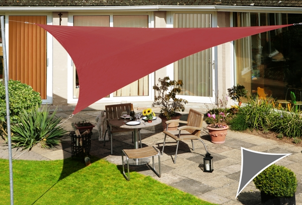 Kookaburra 6m Right Angle Triangle Marsala Red Waterproof Woven Shade Sail