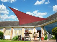 Kookaburra® 5m Triangle Marsala Red Waterproof Woven Shade Sail