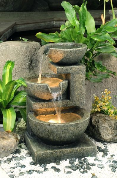 62cm Kendal 3-Tier Cascade Water Feature with Lights by Ambienté™