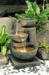 62cm Yorkshire 3-Tier Terracotta Cascade Water Feature with Lights by Ambienté™