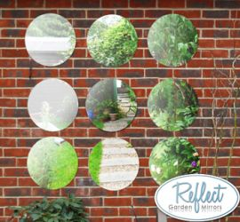 1ft 3in Set of 9 Circular Acrylic Garden Mirrors - by Reflect™