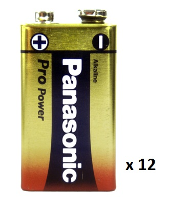 Panasonic Pro 9v Batteries - Pack of 12
