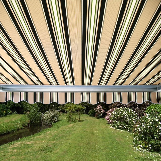 3.0m Full Cassette Electric Awning, Multi Stripe polyester