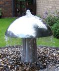 1ft 8ins Stainless Steel Toadstool Water Feature with LED Lights (Medium)