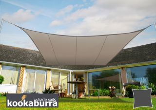 Kookaburra® 3.6m Square Mushroom Party Sail Shade (Woven - Water Resistant)