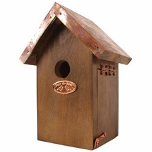 Wren Bird House With Copper Roof