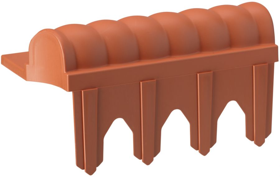 2.3m Victorian Terracotta Lawn Edging Tiles (10x 23cm packs) - H8cm