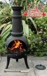 Santa Lucia Cast Iron Medium Chiminea (Black) - H110cm x W50cm