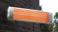 Firefly� 1.8kW Halogen Bulb Electric Infrared Wall Mounted Heater with Remote Control