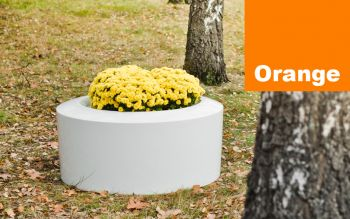 Olib Small Planter in Orange – H45cm x Dia100cm