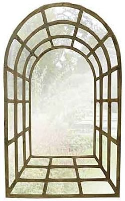 Gothic Arch Outdoor Stone Effect  Perspective Mirror