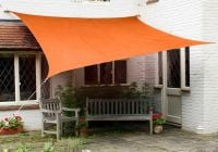 Kookaburra 5mx4m Rectangle Orange Waterproof Woven Shade Sail