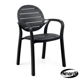 2 x Palma Stacking Chairs in Anthracite