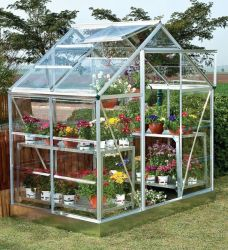 Palram Silverline 6ft x 6ft Aluminium Frame Greenhouse