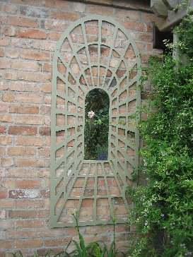 2ft 5in x 5ft 10in Tall Perspective Trellis Arched Mirror