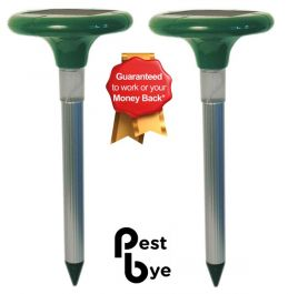 Pack of 2 Advanced Solar Mole Repeller - PestBye®