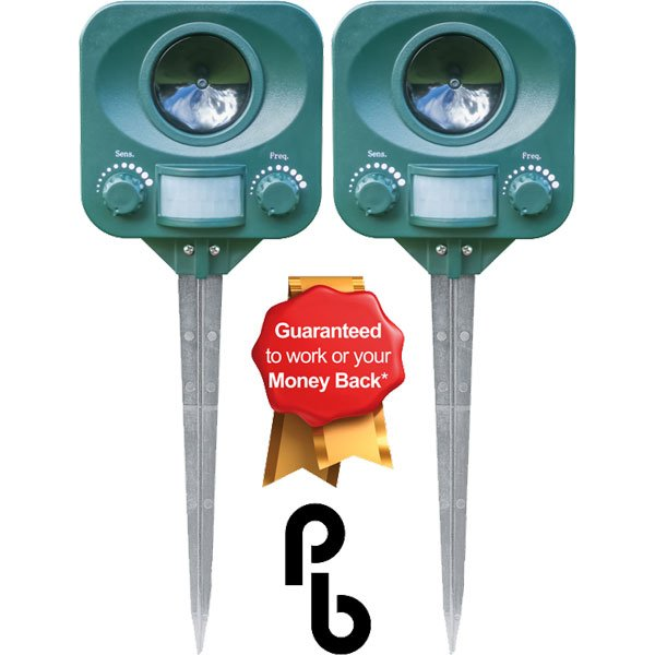 Set Of 2 Solar Cat Repeller By PestBye®