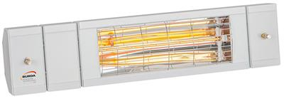 1.5kw Perfectclime® White Infrared Heater and Cooler with Lights and Low Glare by Burda™