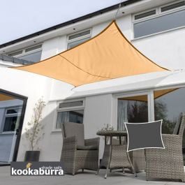 Kookaburra® 3mx2m Rectangle Peach Waterproof Woven Shade Sail