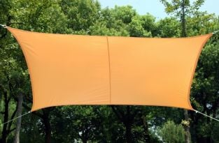 Kookaburra® 5.4m Square Peach Waterproof Woven Shade Sail