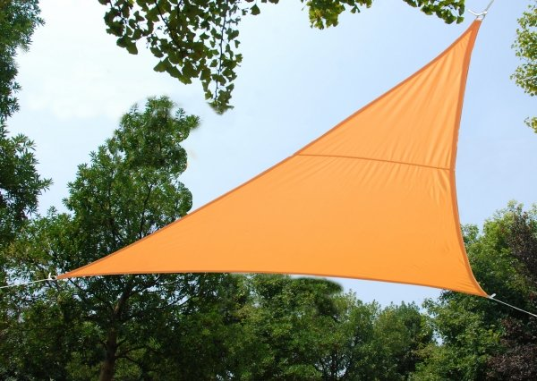 Kookaburra® 5m Triangle Peach Waterproof Woven Shade Sail
