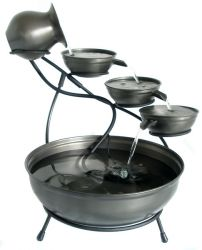 Pewter Solar Cascade Water Feature