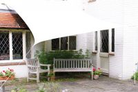 Kookaburra 4mx3m Rectangle Polar White Breathable Party Shade Sail (Knitted 185gsm)