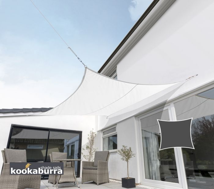Kookaburra® 3.6m Square Polar White Breathable Shade Sail (Knitted)