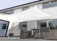 Kookaburra 5.4m Square Polar White Waterproof Woven Shade Sail