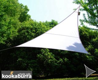 Kookaburra® 6m Right Angle Triangle Polar White Waterproof Woven Shade Sail