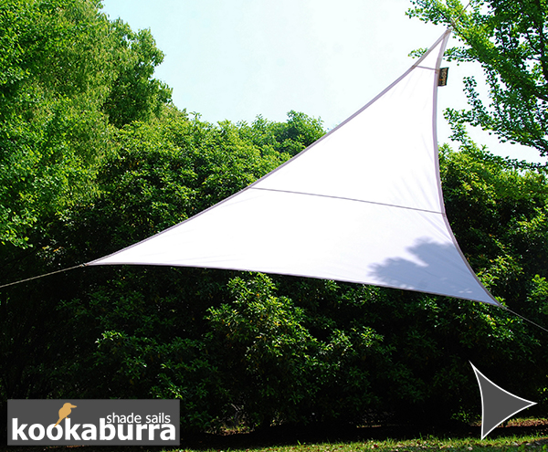 Kookaburra® 3m Triangle Polar White Waterproof Woven Shade Sail