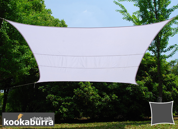Kookaburra® 3.6m Square Polar White Party Sail Shade (Woven - Water Resistant)