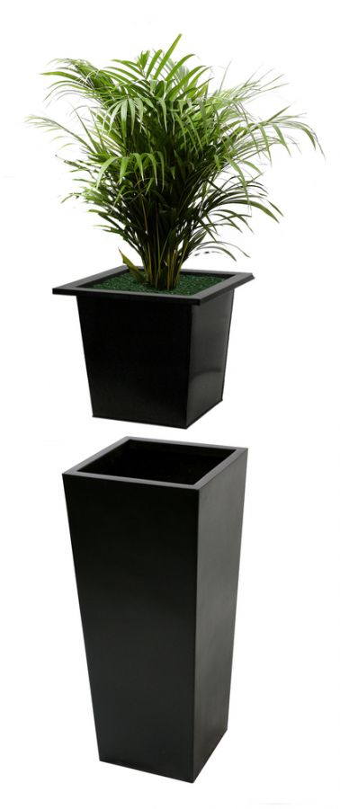 L36cm Flared Square Planter Insert - By Primrose®