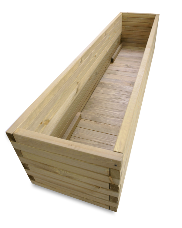 L1.8m Pine Raised Trough Planter