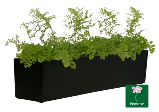 L76cm Fibreglass Window Box Planter in Matt Black - By Primrose™