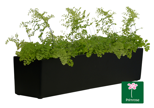 L70cm Fibreglass Window Box Planter in Matt Black - By Primrose™