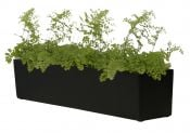 Fibreglass Window Box Planter - Matt Black - H17.5 x L76cm