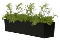 L76cm Fibreglass Window Box Planter in Matt Black - By Fibre-G™