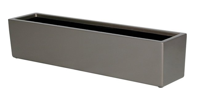 L76cm Fibreglass Window Box Graphite Planter - By Primrose®