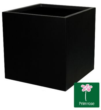 H40cm Fibreglass Cube Planter in Matt Black - By Fibre-G�
