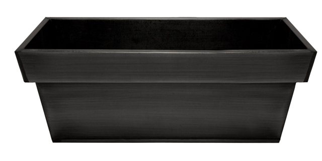 L60cm Zinc Edge Pewter Trough Planters - By Primrose™