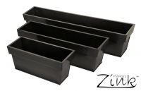 Zinc Edge Trough Planter - Pewter - Large L80cm x H17cm