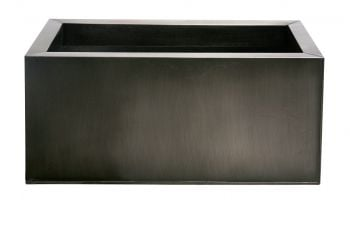 L70cm Zinc Galvanised Pewter Trough Planter - By Primrose®